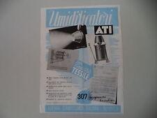 advertising Pubblicità 1947 UMIDIFICATORI ATI AZIENDA TERMOTECNICA ITALIANA