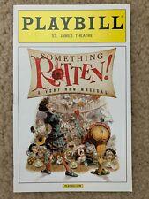 Broadway Something Rotten Playbill! Original Broadway Cast, RARE! OBC!