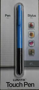 LUNATIK Polymer Touch Pen Cyan Blue for Apple iPhone 8, 7, 6, 5, 4 iPad Air Mini
