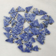 Natural sodalite stone triangle shape charms pendants 50pcs/lot Wholesale free