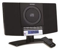 Denver MC-5220 schwarz CD Player FM Radio Uhr Wecker Wandmontage Stereoanlage