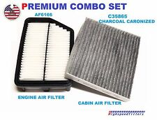 PREMIUM COMBO AIR FILTER & CHARCOAL CABIN FILTER For 2011 -16 KIA SPORTAGE 2.4L