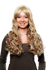 Blonde/Aschblonde Perücke/Wig, gelockte Spitzen, langer Pony 3263-613L/18(605)