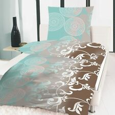 BED COVER 4 PIECES MICROFIBER 135x200 cm Aqua Ornament Turquoise Brown White