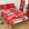 Official Arsenal FC England Football Bedding Set Duvet Cover Single Double