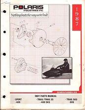 1987 POLARIS SNOWMOBILE INDY SPORT & TRAIL  P/N 9911270  PARTS MANUAL (222)