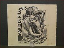 EROTICA - Ex-Libris Originale di FRANK IVO 384 Mario De Filippis