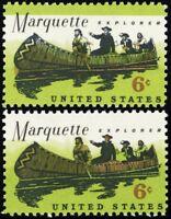 1356, 6¢ Marquette With Large Green Color Shift ERROR Mint NH - Stuart Katz