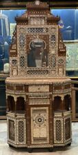 Antique Console with Mirror carving wood Inlaid Shell, Arabesque work