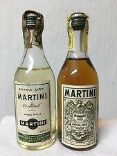 Lotto 2 Mignon Miniature Martini Vermouth Cocktail Extra Dry 5.9cl 37.2% Seco