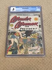 Wonder Woman 7 CGC .5 with Rare White Pages (Classic Cover!!) CGC #001 + magnet