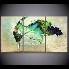 Modern Abstract Oil Painting Wall Decor Art Huge - Beautiful ballet dancer 3pcs