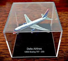 Rare Delta Airlines Boeing 757-200 Diecast In Display Case - Scale 1:650
