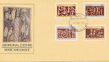 1982 Aboriginal Culture Music & Dance FDC - Manunda Qld 4870 PMK