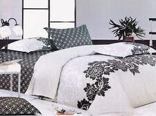 Ardor LOREN Black 250TC 100% Cotton QUEEN Size Quilt Doona Cover Set
