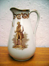 VICTORIAN JUG WITH JOSIAH WEDGWOOD  AND GREEK KEY PATTERN ON ORANGE LUSTRE