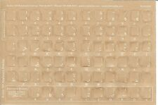 Arabic White  Keyboard Stickers, Labels. Transparent