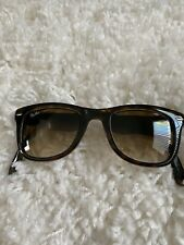 Pre-owned Authentic folding Wayfarer Ray-Ban sunglasses. Tortoise