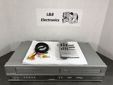 Philips DVP3150V/37 DVD VCR/VHS Combo W/Remote, Manual, Cables - Serviced!