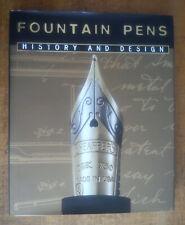 FOUNTAIN PENS HISTORY & DESIGN by Giorgio Dragoni 1st Ed BOOK HB in DJ