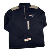 New England Patriots 1/4 Zip Pullover -NFL Team Apparel XL Extra Large Jacket