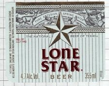 US G.Heileman Brewing,San Antonio LONE STAR animal beer label C2254 082