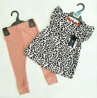 MOTHERCARE Girls Baby Outfit MY K Leggings Top Set Animal Leopard Print BNWT