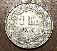 TRES BELLE PIECE DE 1 FRANC SUISSE 1961 B EN ARGENT (108)