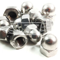 PACK OF 25 A4 STAINLESS STEEL DOME NUTS MARINE GRADE M6 COARSE THREAD DIN1587 *