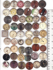 Steampunk Art or for parts *A179 Lot of 54 Men Watch Dials Vintage