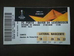 TICKET 18/19 EUROPA LEAGUE FC PORTO x BAYER 04 LEVERKUSEN