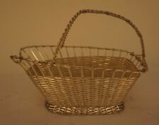 Vintage Wa France Silver Plate Woven Wine Caddy