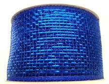 Eleganza - Deco Mesh - Waterproof Ribbon - 63mm x 10m Roll - METALLIC ROYAL BLUE