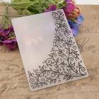 Flower Corner Embossing Folders Plastic Stencils DIY Cutting Scrapbooking Craft