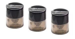 3 Jars Revlon Colorstay AQUA Mineral Base Facial Makeup 070 Medium Deep .35oz