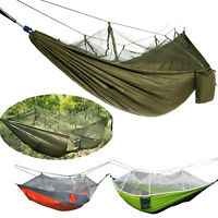 Portable Outdoor Camping Mosquito Net Nylon Hammock Hanging Bed Sleeping Swing