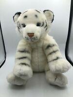 Build A Bear BAB White Tiger Cat Cub Plush Kids Soft Stuffed Toy Animal Doll