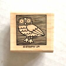 Stampin Up OWL Rubber Stamp Small Bird Cute by the Inch Card Craft Wood Mounted