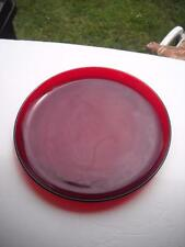 "Anchor Hocking Royal Ruby 9"" Wide Dinner Plate - No Faults Found On It"
