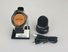 Samsung Galaxy Watch SM-R805U Silver Case Black Strap Smart Watch