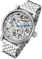 Rougois Mechanical Skeleton Steel Watch