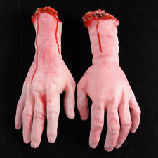 Bloody Hands Zombie Skinned Arm Skeleton Halloween Prop Body Parts Walking Dead