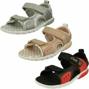 Childrens Clarks Hook And Loop Sandals Rocco Tide K