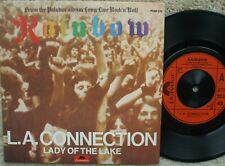 Rainbow - L.A Connection / Lady Of The Lake U.K 45 + Picture Sleeve EXCELLENT-