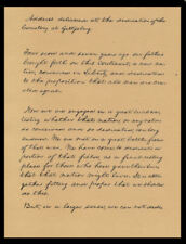 Abraham Lincoln Gettysburg Address Reprint On Original Period 1860s Paper *P019