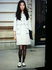 Chanel 15P MOST WANTED Lambskin Ecru Black Gold Brogue Sandals CC Box IT37$1.8K