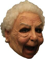 ADULT NANNY OLD LADY GRANDMA CHINLESS LATEX MASK WITH HAIR COSTUME TB27541