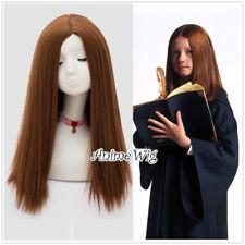 55CM Harry Potter Ginny Weasley Anime Braun Fluffy Halloween Cosplay Perücke Top
