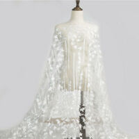"""0.5/1 Yard Vintage Guipure Embroidery Lace Fabric for DIY Wedding Dress 53""""Width"""