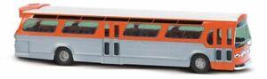 Busch 44512 - 1/87 / H0 US Bus Fishbowl - Orange / Argent - Neuf
